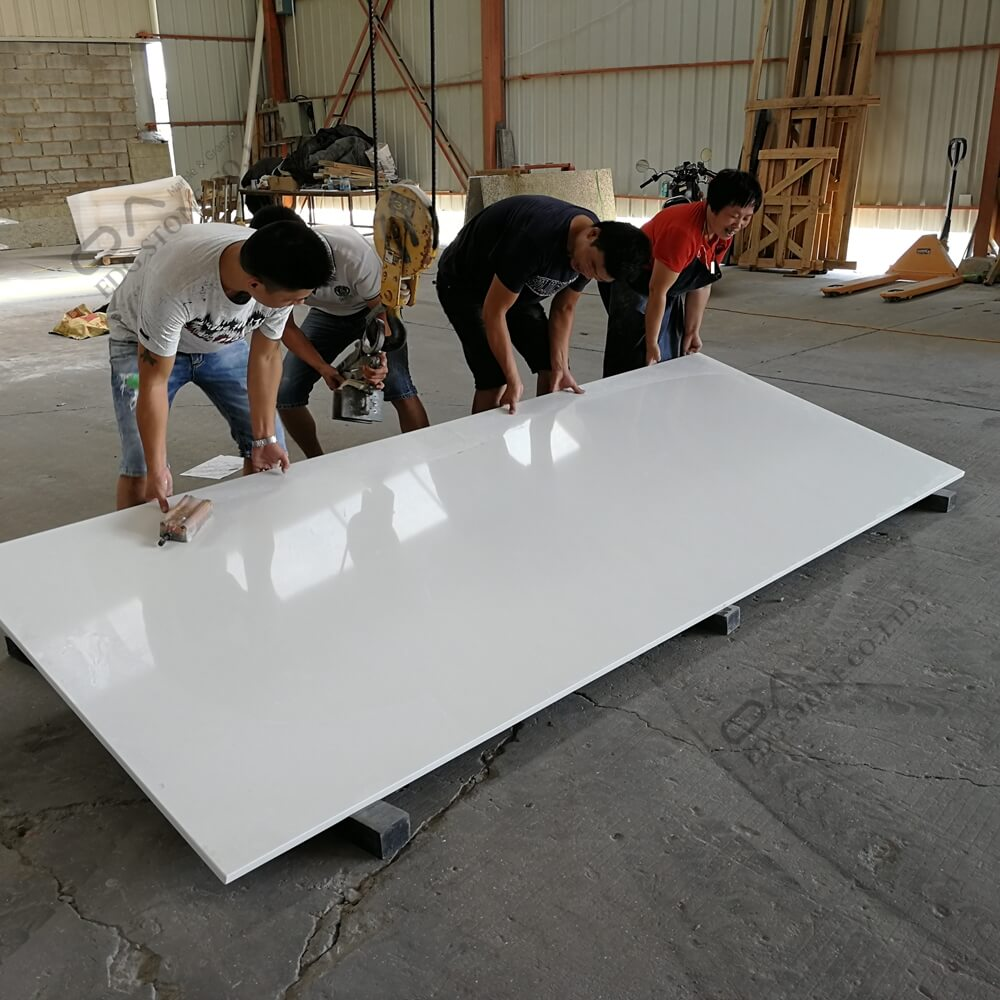 EDG7004 Crystal White Quartz Countertops