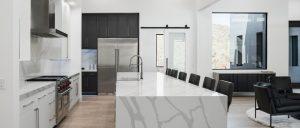 EDG4028 Calacatta White Quartz Kitchen Countertops