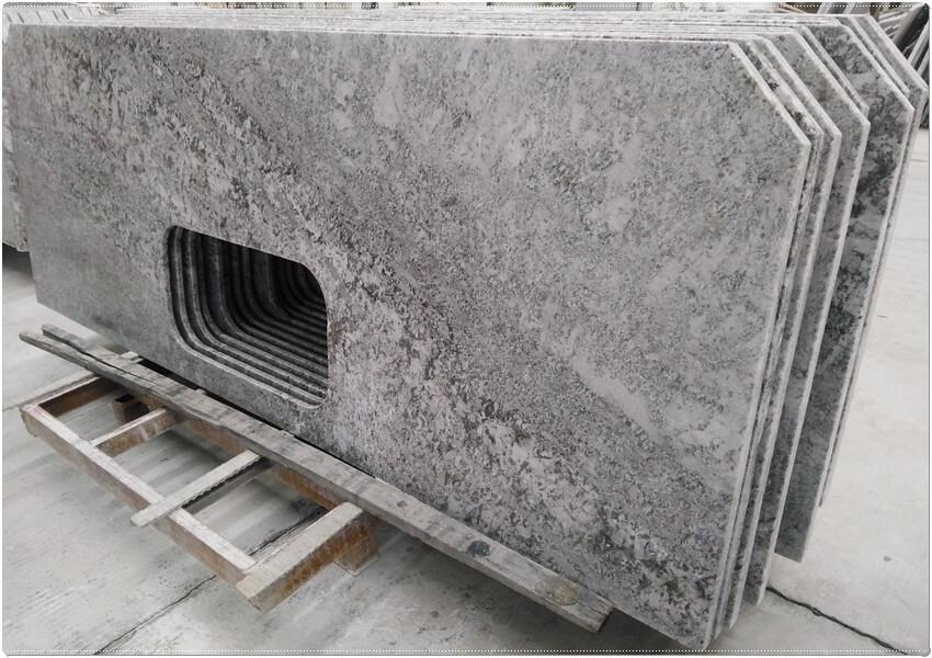 Aran White granite kitchen island countertops