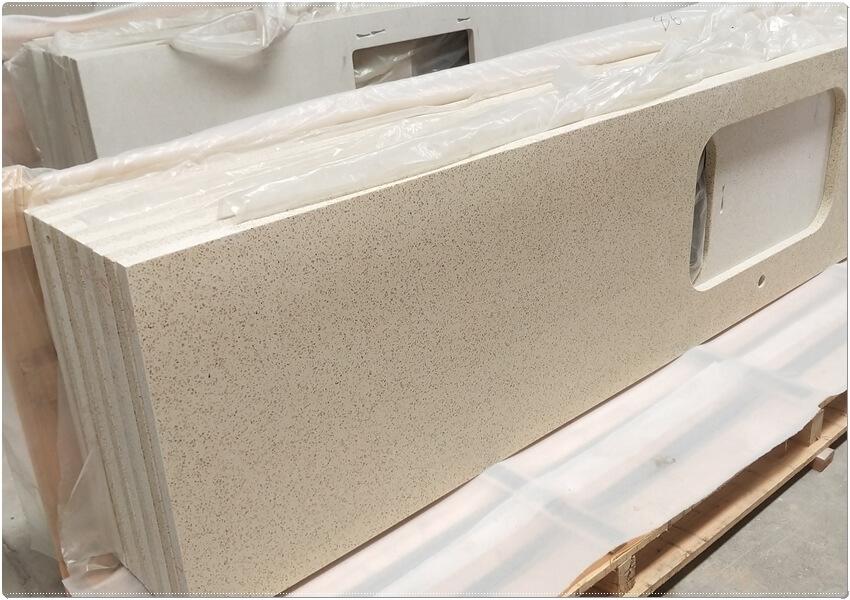 Engineered quartz kitchen countertops