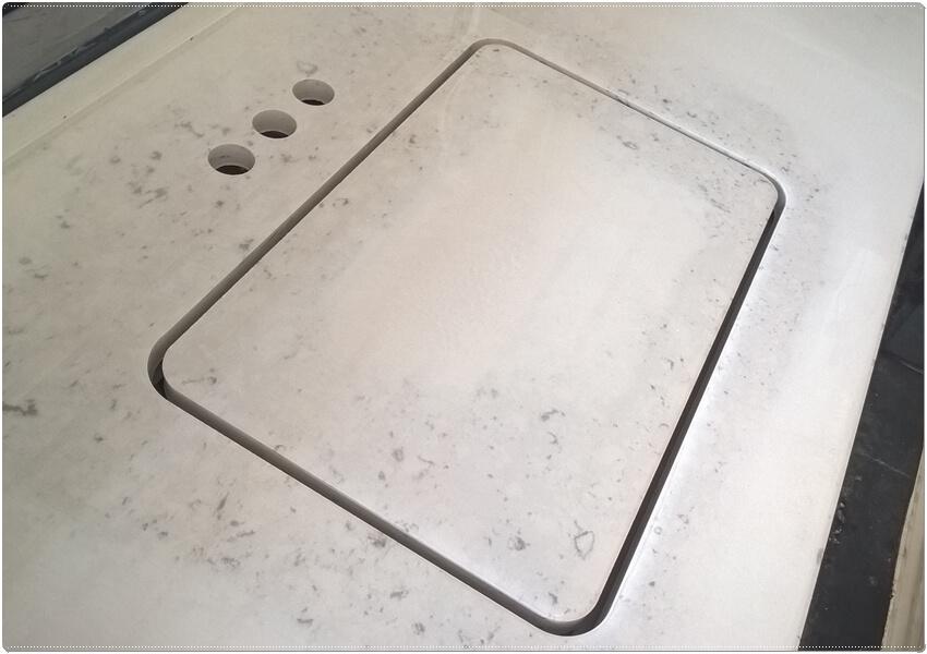 Engineered quartz stone countertops