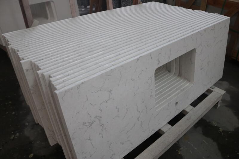 Calacatta White Quartz Vanity Tops (2)