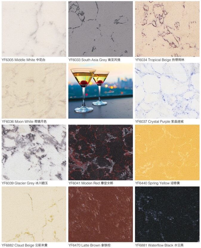 EDGStone quartz colors