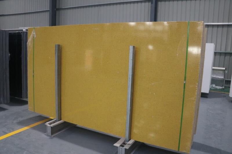 yellow quartz countertops