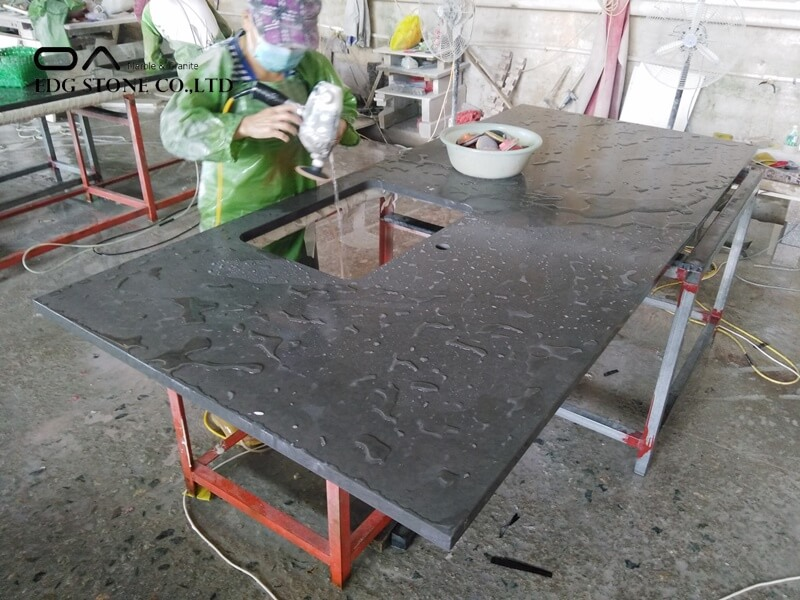 dark grey quartz countertops