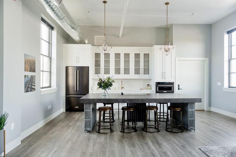 gray quartz countertops