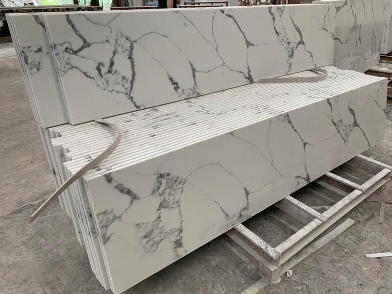 quartz countertops white with brown veins