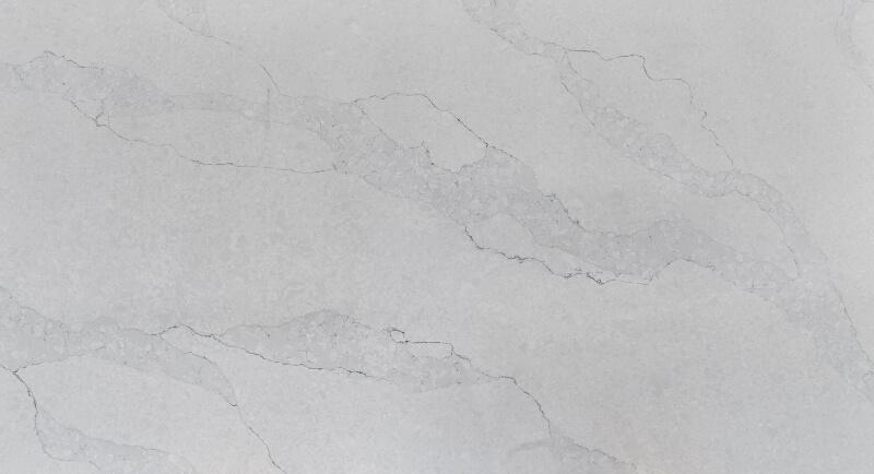 quartz white with grey vein