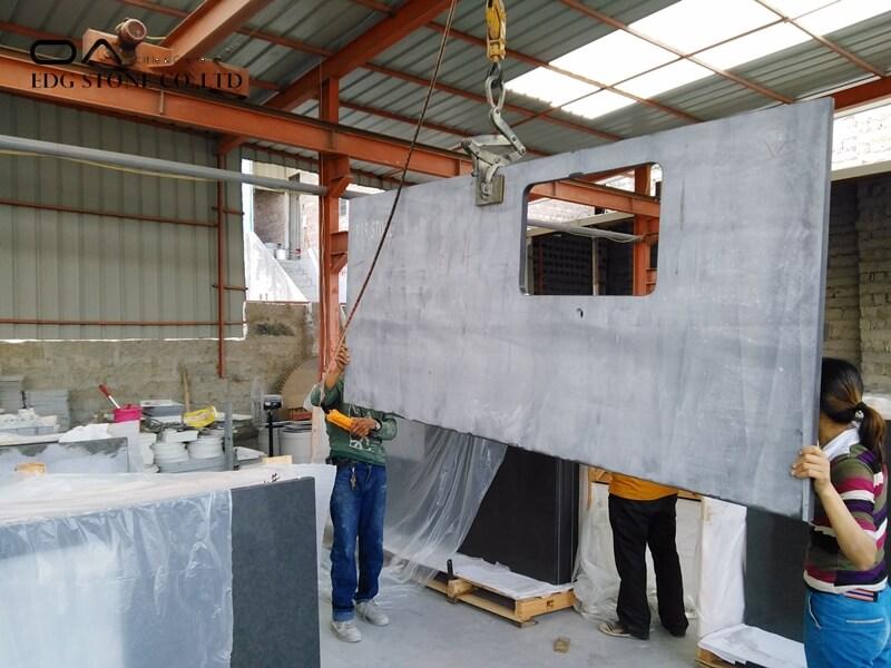 concrete grey quartz countertops