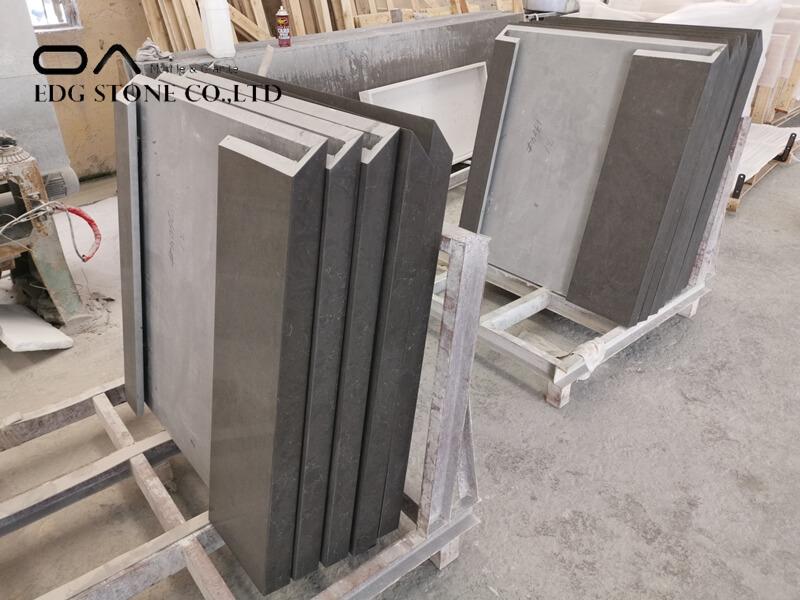 dark grey quartz worktop