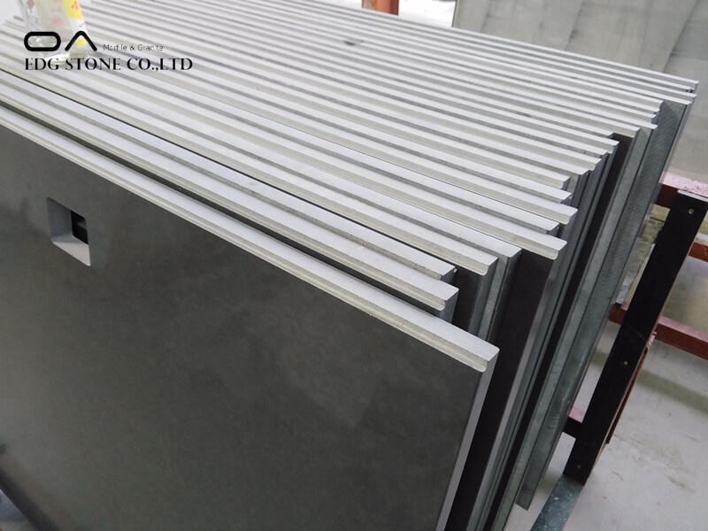 grey quartz countertops white cabinets