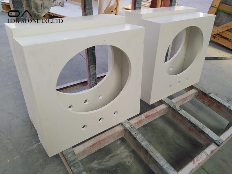 plain white quartz countertops
