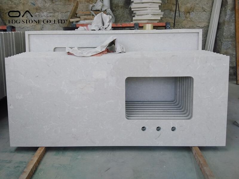 quartz countertops white with grey veins