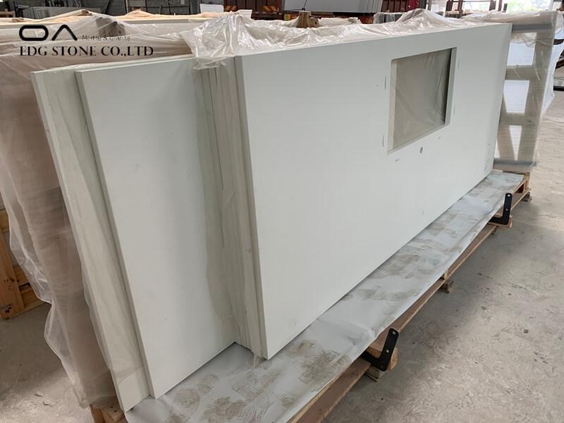white pearl quartz countertops