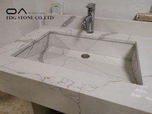 60 double sink vanity with quartz top