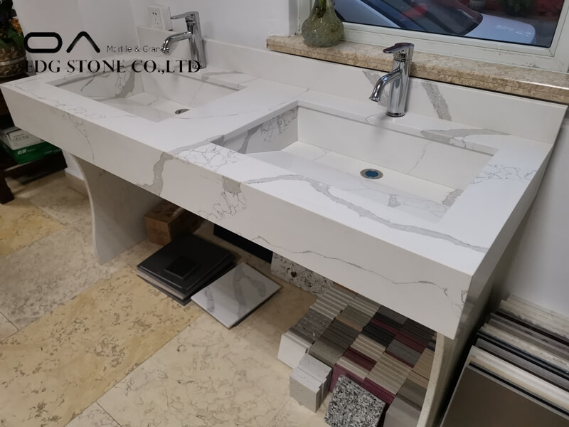 quartz vanity tops with undermount sink