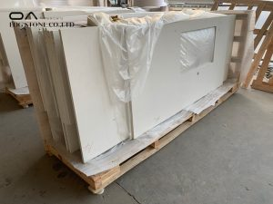 white fusion quartz countertop