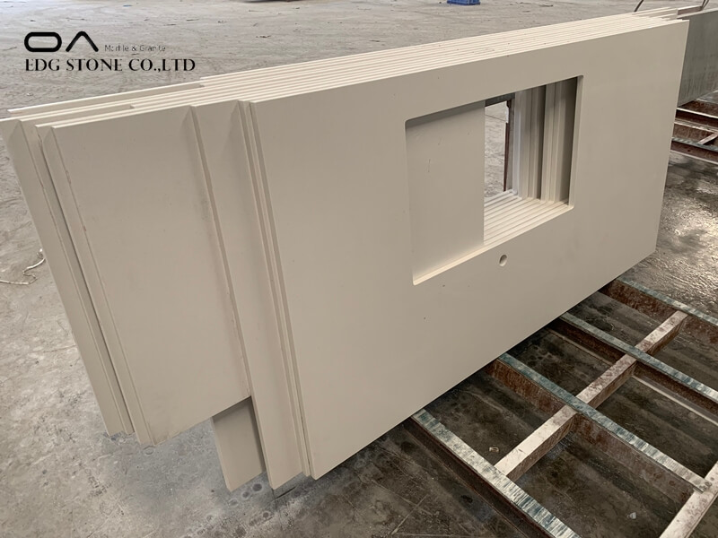 white quartz stone worktop