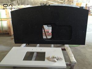 black quartz countertops cost