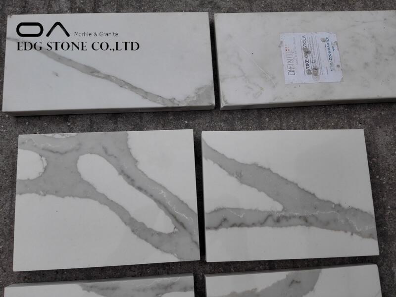 calacatta quartz prefab