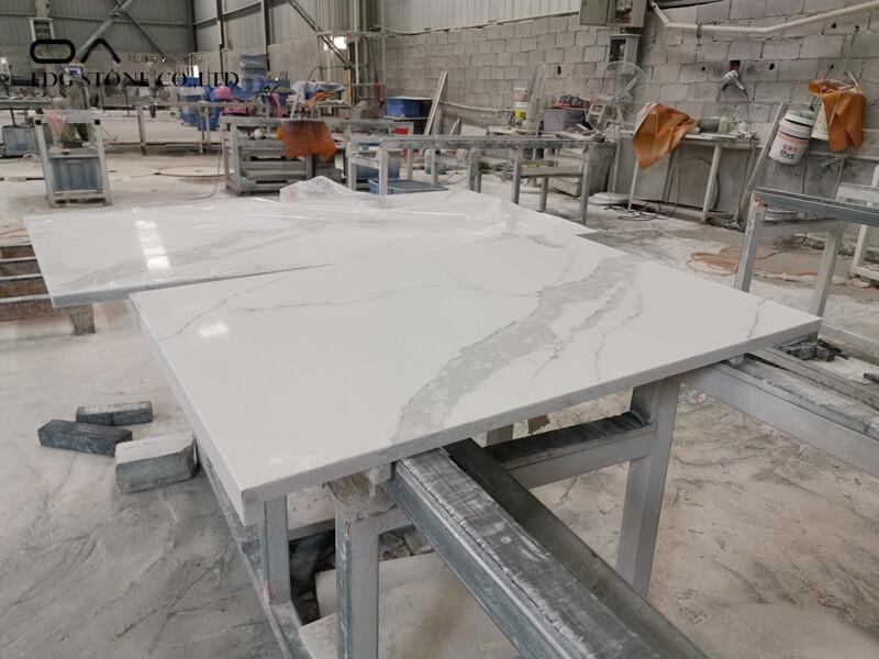carrara gioia quartz countertops by daltile