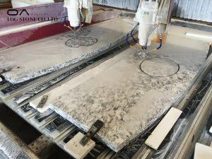 unpolished quartz countertops