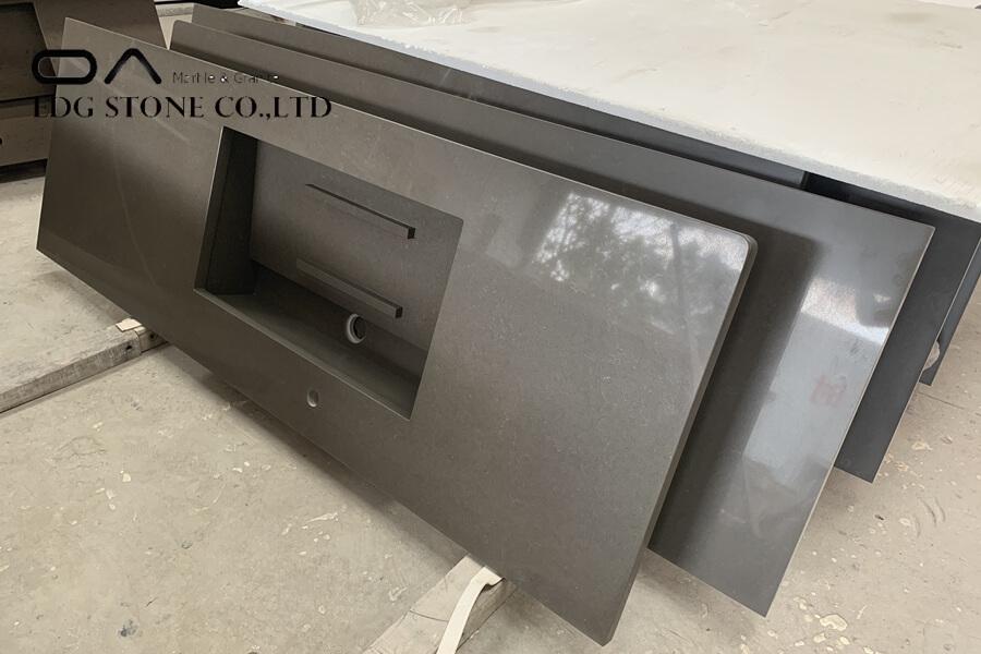 honed black quartz countertops
