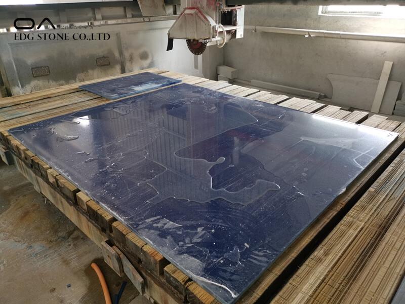 quartz countertops with blue veins