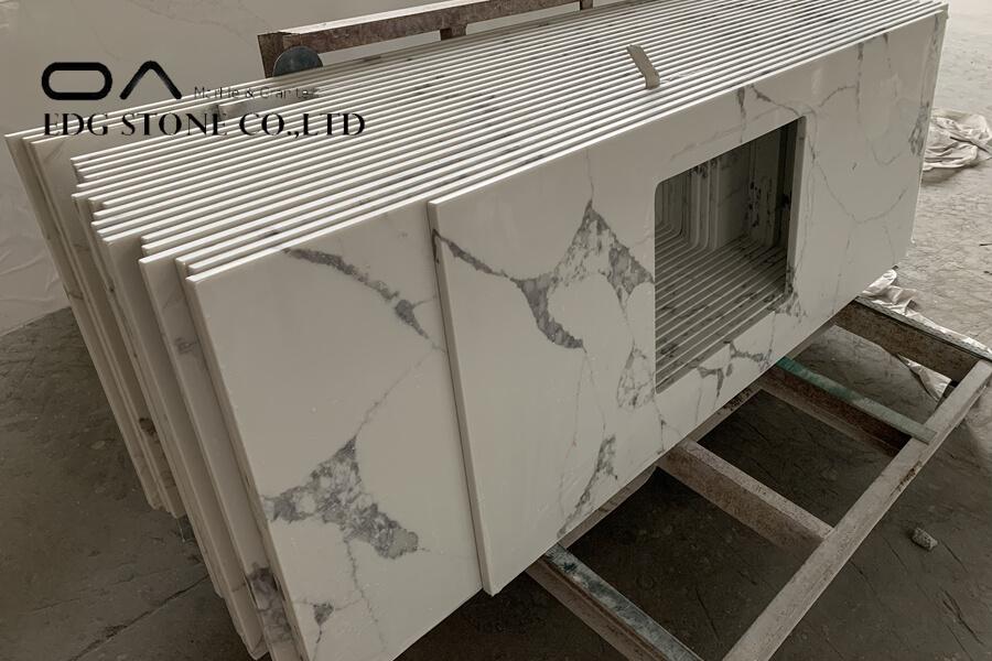 coral clay quartz countertop