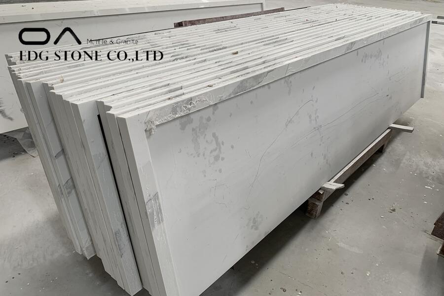 quartz countertops with copper flecks