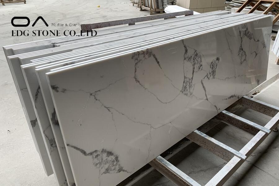 white and gold quartz countertops