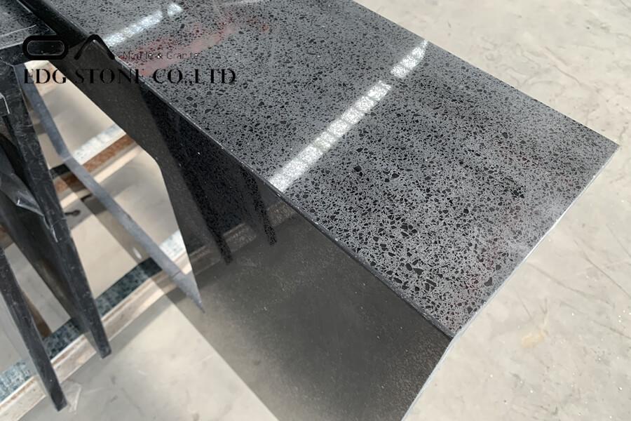 black pearl quartz countertop