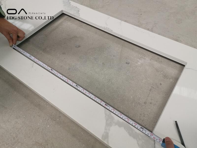 quartz worktop overlay