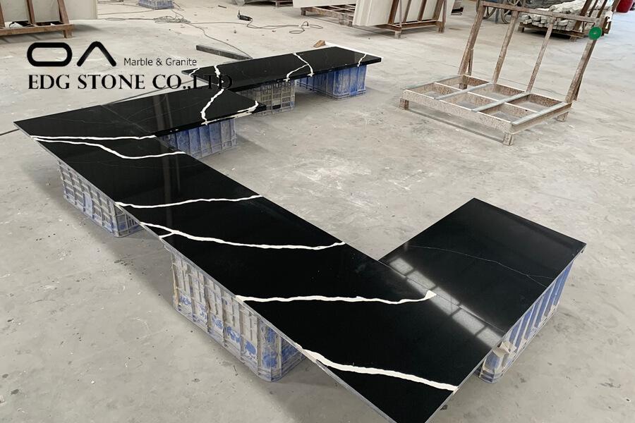 black countertops quartz